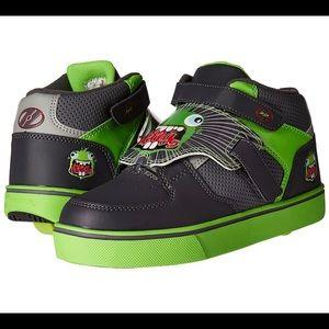 Green tornado boys Heelys size 3